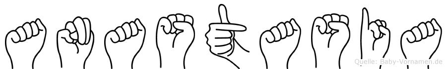 Anastasia in Fingersprache für Gehörlose