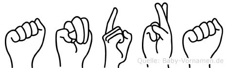 Andra in Fingersprache für Gehörlose