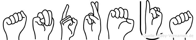 Andreja im Fingeralphabet der Deutschen Gebärdensprache