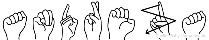 Andreza im Fingeralphabet der Deutschen Gebärdensprache