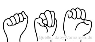 Ane im Fingeralphabet der Deutschen Gebärdensprache