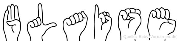 Blaise in Fingersprache für Gehörlose