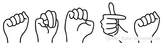 Aneta im Fingeralphabet der Deutschen Gebärdensprache