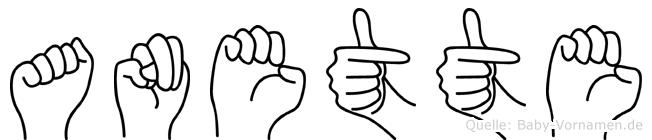 Anette im Fingeralphabet der Deutschen Gebärdensprache