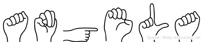 Angela in Fingersprache für Gehörlose
