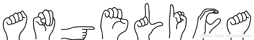 Angelica im Fingeralphabet der Deutschen Gebärdensprache