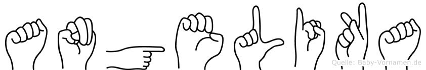 Angelika in Fingersprache für Gehörlose