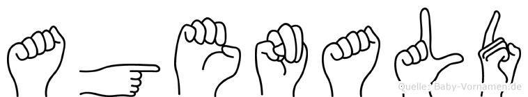 Agenald in Fingersprache für Gehörlose