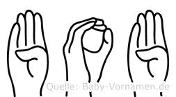 Bob in Fingersprache für Gehörlose