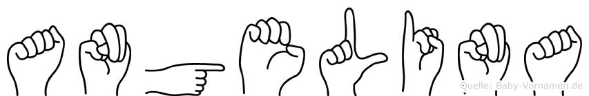 Angelina im Fingeralphabet der Deutschen Gebärdensprache