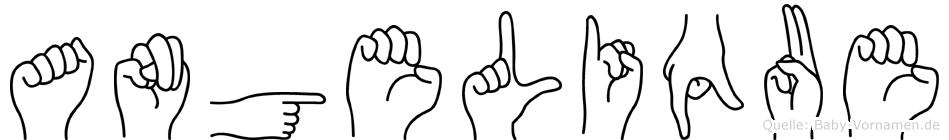 Angelique im Fingeralphabet der Deutschen Gebärdensprache
