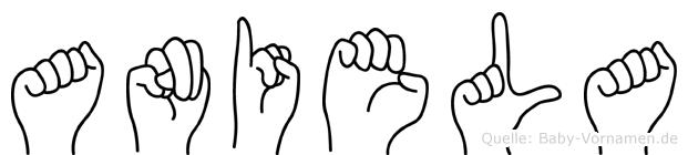 Aniela in Fingersprache für Gehörlose
