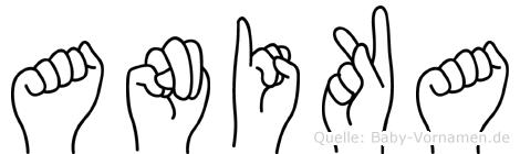 Anika in Fingersprache für Gehörlose