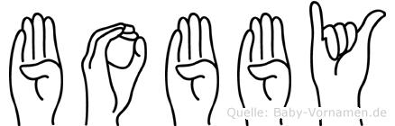 Bobby in Fingersprache für Gehörlose