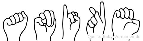 Anike im Fingeralphabet der Deutschen Gebärdensprache