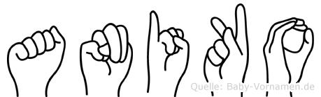 Aniko im Fingeralphabet der Deutschen Gebärdensprache