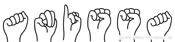Anissa im Fingeralphabet der Deutschen Gebärdensprache