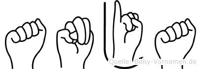 Anja im Fingeralphabet der Deutschen Gebärdensprache