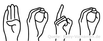 Bodo in Fingersprache für Gehörlose