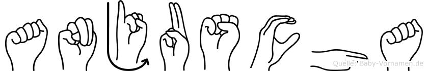 Anjuscha in Fingersprache für Gehörlose