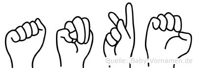 Anke im Fingeralphabet der Deutschen Gebärdensprache