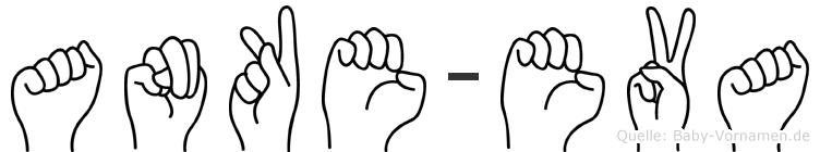 Anke-Eva im Fingeralphabet der Deutschen Gebärdensprache