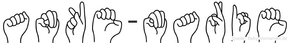 Anke-Marie im Fingeralphabet der Deutschen Gebärdensprache