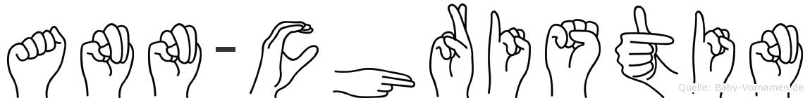 Ann-Christin im Fingeralphabet der Deutschen Gebärdensprache