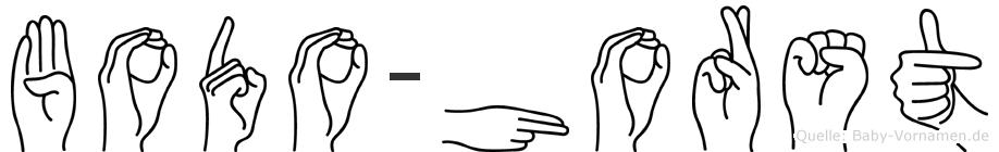 Bodo-Horst im Fingeralphabet der Deutschen Gebärdensprache