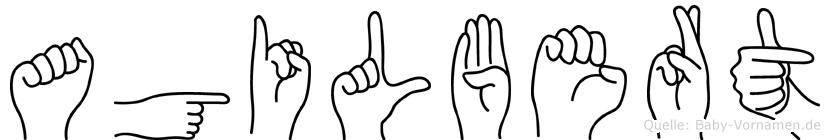 Agilbert in Fingersprache für Gehörlose