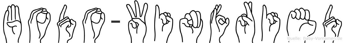 Bodo-Winfried im Fingeralphabet der Deutschen Gebärdensprache
