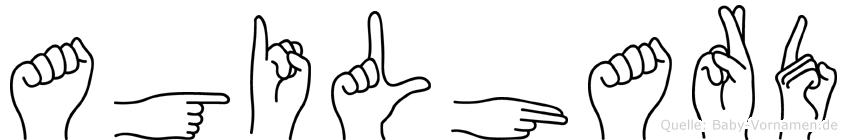 Agilhard in Fingersprache für Gehörlose