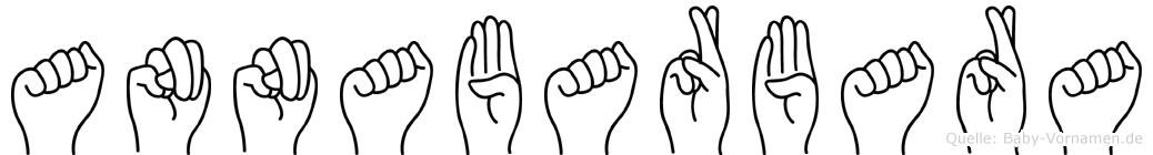 Annabarbara im Fingeralphabet der Deutschen Gebärdensprache
