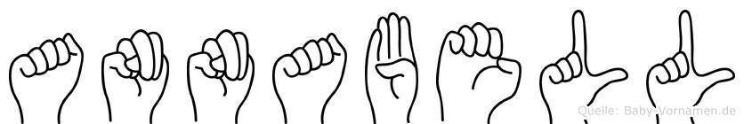 Annabell im Fingeralphabet der Deutschen Gebärdensprache