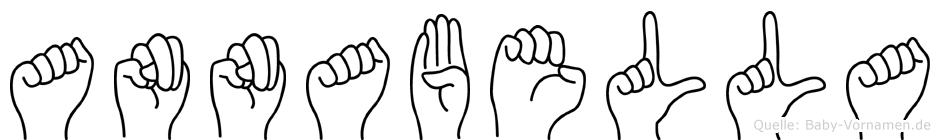 Annabella im Fingeralphabet der Deutschen Gebärdensprache