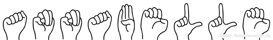 Annabelle im Fingeralphabet der Deutschen Gebärdensprache