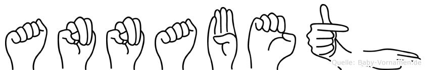 Annabeth im Fingeralphabet der Deutschen Gebärdensprache