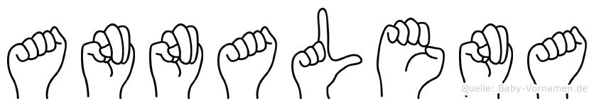 Annalena in Fingersprache für Gehörlose