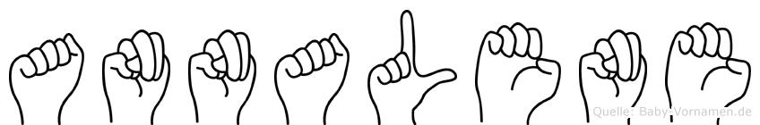 Annalene im Fingeralphabet der Deutschen Gebärdensprache