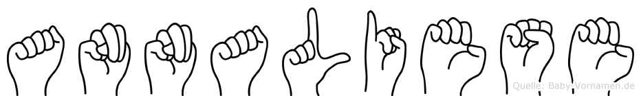 Annaliese im Fingeralphabet der Deutschen Gebärdensprache