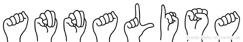 Annalisa im Fingeralphabet der Deutschen Gebärdensprache