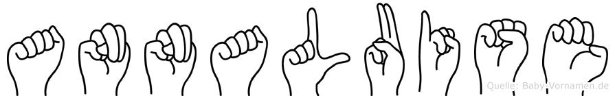 Annaluise im Fingeralphabet der Deutschen Gebärdensprache
