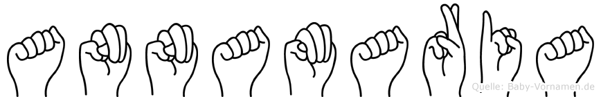 Annamaria im Fingeralphabet der Deutschen Gebärdensprache