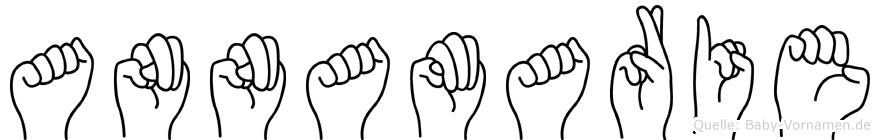 Annamarie im Fingeralphabet der Deutschen Gebärdensprache