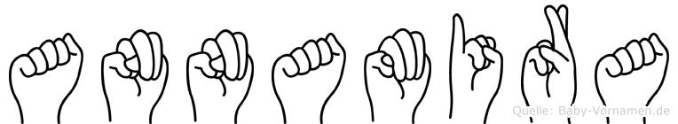 Annamira im Fingeralphabet der Deutschen Gebärdensprache