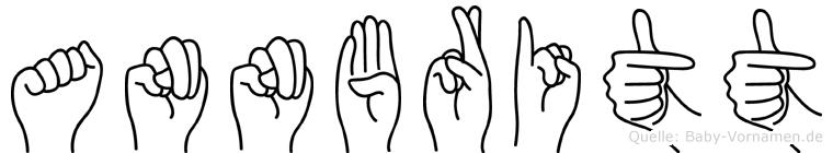Annbritt im Fingeralphabet der Deutschen Gebärdensprache