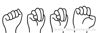 Anne in Fingersprache für Gehörlose