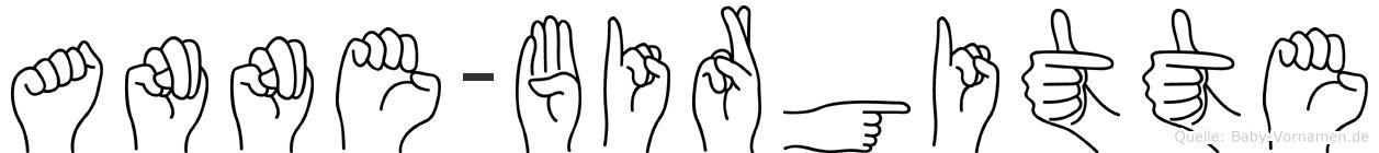 Anne-Birgitte im Fingeralphabet der Deutschen Gebärdensprache