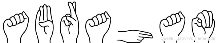 Abraham in Fingersprache für Gehörlose