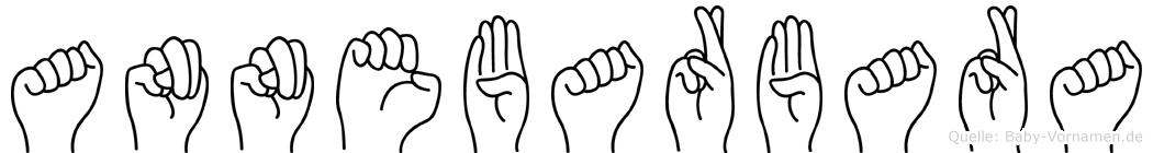 Annebarbara im Fingeralphabet der Deutschen Gebärdensprache